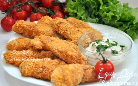 Рецепт Куриное филе с беконом в сухариках