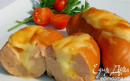 Рецепт Сардельки с сыром в духовке