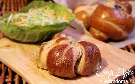 Рецепт Пивные крендели с моцареллой и сыром Джюгас
