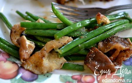 Рецепт Зеленая фасоль с шиитаке