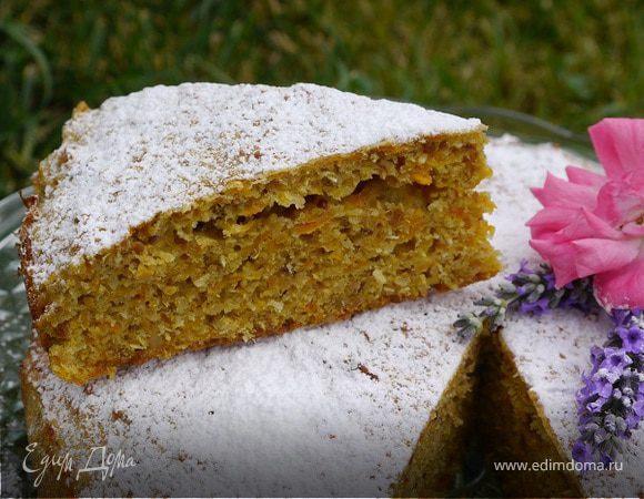 Морковный пирог с лимоном и лесными орехами