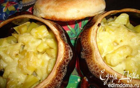 Рецепт Телятина с картофелем в горшочках