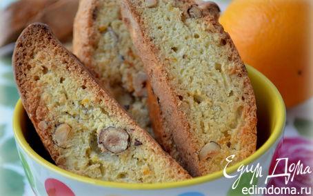 Рецепт Бискотти с фундуком и апельсином