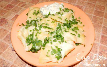 Рецепт Равиоли с кальмарами и сливочным соусом