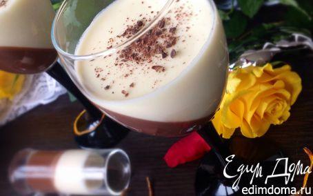 Рецепт Черный шоколад и апельсиновая панна котта