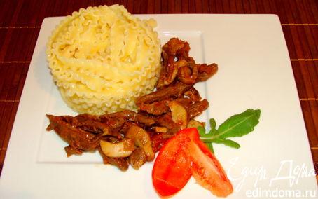 Рецепт Паста с телятиной и белыми грибами