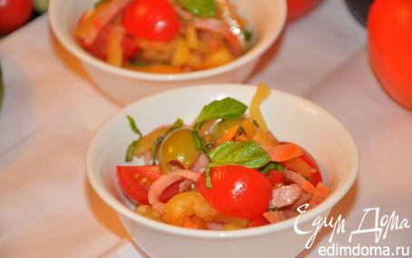 Рецепт Салат из сладкого перца с салями