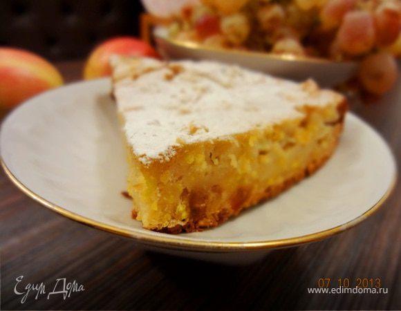 Итальянский яблочный пирог с полентой