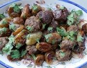 Тефтельки из ягнятины с инжиром и луком-шалотом