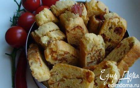 Рецепт Бискотти с пармезаном, ветчиной и перцем чили