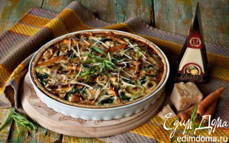 Рецепт Пирог с пореем, морковью, курицей и сыром