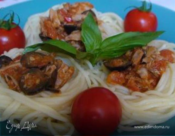 Спагетти с оливками (Spaghetti alle olive)