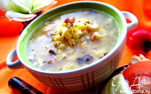 Рецепт Гороховый суп с копченостями и тыквой