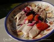 Форель со свекольно-цитрусовой сальсой