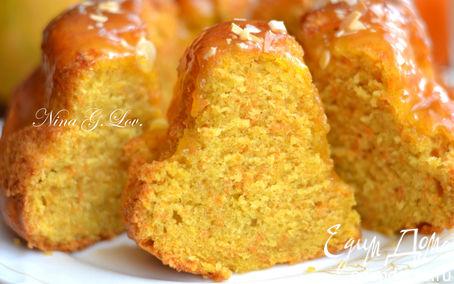 Рецепт Нежнейший тыквенный кекс с цитрусовой помадкой