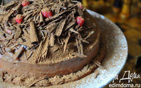 Рецепт Тыквенно-шоколадный торт-купол с малиновым желе