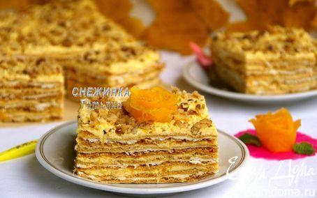 Рецепт Тыквенно-творожный торт «Осенняя мелодия»