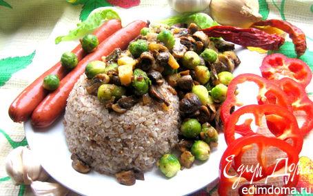 Блюдо из вырезки говядины с шампиньонами