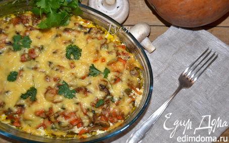 Рецепт Запеканка из свинины с тыквой и грибами