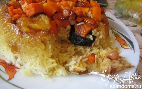 Рецепт Пряный плов с тыквой и сухофруктами