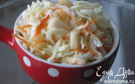 Рецепт – Быстрая маринованная капуста с яблоками и медом