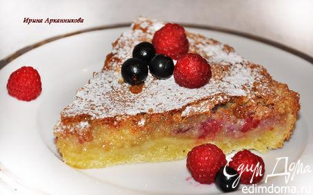 Рецепт Пирог с ягодами и начинкой из миндаля