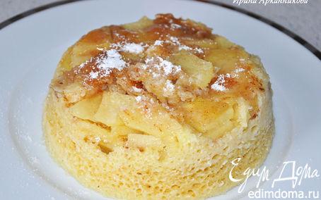 Рецепт Медово-яблочный пудинг в СВЧ за 7 минут