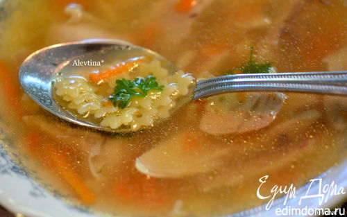 Рецепт Куриный суп со звездочками