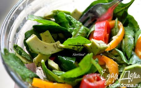 Рецепт Салат шпинатный с авокадо