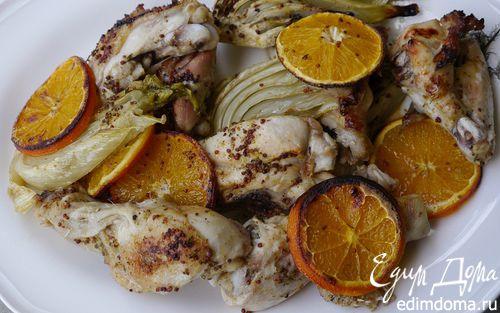 Рецепт Запеченный цыпленок с апельсинами