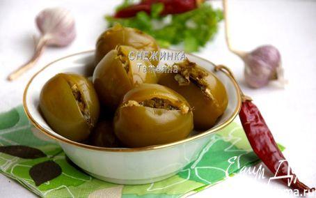 Рецепт Острые зеленые помидоры с начинкой
