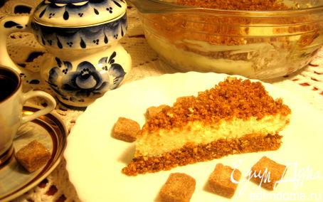 Рецепт Простейший творожный тортик на сухарях