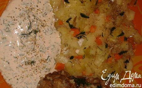 Рецепт котлетки с рисом под нежным соусом с капустным гарниром