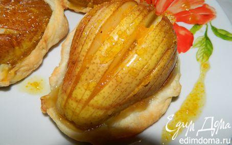 Рецепт Корзинки с грушами и апельсиновым сиропом