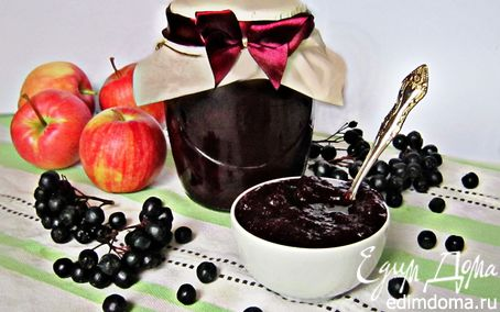 Рецепт Яблочный джем с черноплодной рябиной