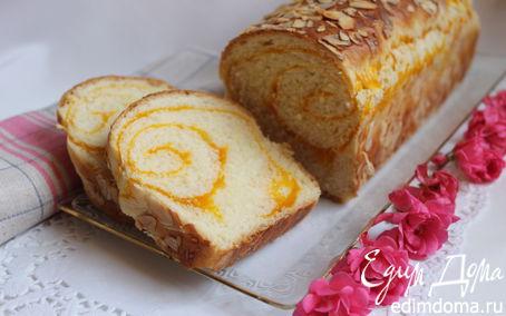 Рецепт Сладкий хлеб с тыквенной прослойкой в хлебопечке