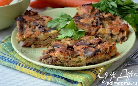Рецепт Ароматный грибной кекс-пирог