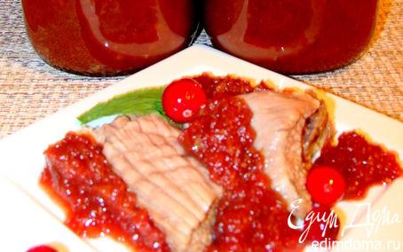 Рецепт Сливово-яблочный острый соус к мясу