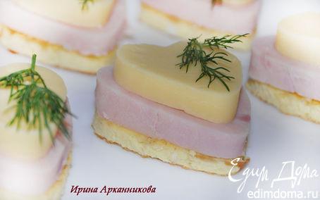 Рецепт Канапе с омлетом