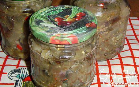 Рецепт Баклажаны с чесноком и горьким перцем