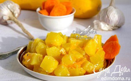 Рецепт Хрустящие кабачки с чесноком и морковью