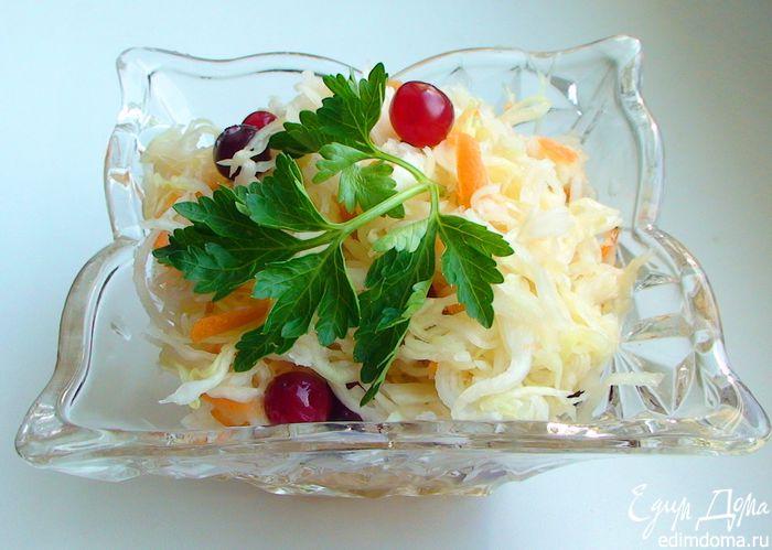 Рецепт – Квашеная капуста с клюквой