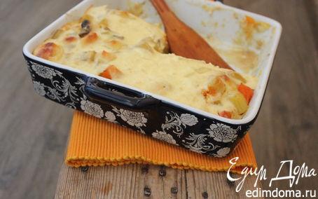 Рецепт Запеканка с тыквой, грибами и сыром Джюгас