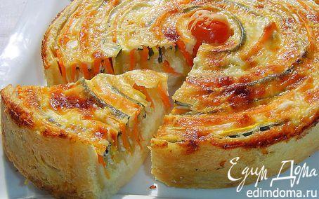 Рецепт Овощной пирог «Осеннее солнце»