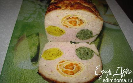 Рецепт Хлебец из цыпленка, фаршированный блинами
