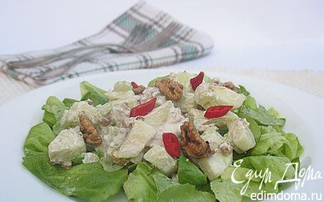 Рецепт Салат из яблок, грецких орехов, сыра