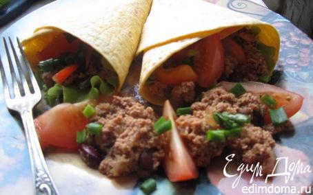 Рецепт Буррито с фасолью и фаршем