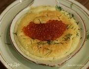 Сливочное суфле с красной икрой