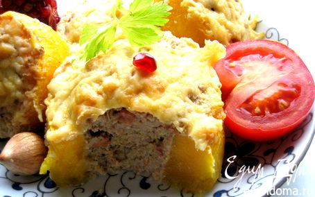 Рецепт Фаршированные кабачки под сыром