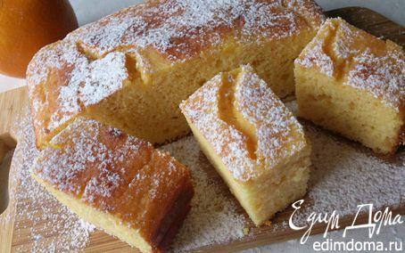 Рецепт Творожно-апельсиновый пирог из кукурузной муки (без масла)